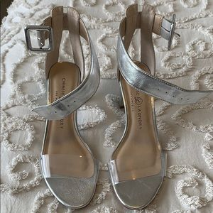 Silver Heels - brand new, never worn!